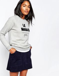 21 Genius Outfit Ideas to Steal This Summer: A ShoppableGuide | Whistles Le Marais Sweatshirt, $121; at ASOS