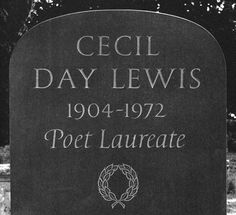 Headstone designed for poet Cecil Day Lewis by Michael Harvey. Typography Letters, Lettering, British Books, Day Lewis, Stone Carving, Memoirs, Short Stories, Book Design, Authors