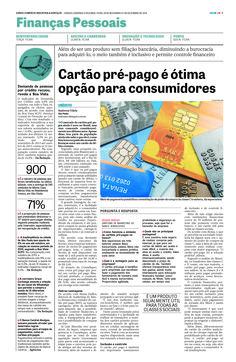 Título: Cartão pré-pago é ótima opção para consumidores. Veículo: DCI. Data: 01/12/2014. Cliente: Acesso.