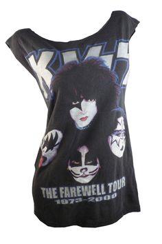 58052579139 Classic KISS Reunion Glam Metal Reshaped Tour T-Shirt   Dress Sz. M L