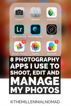 8 photography apps I use to shoot, edit and manage my photos. #photography #learnphotography #photographyforbeginners #photographyapp #mobilephotography Photography Software, Phone Photography, Photography Business, Learn Photography, Amazing Photography, Travel Photography, Photography Basics, Photography For Beginners, Mobile Photography