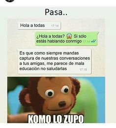 *retrasada mental :V* Funny Spanish Memes, Spanish Humor, Stupid Funny Memes, Funny Posts, Hilarious, Funny Images, Funny Pictures, Mexican Memes, Starco