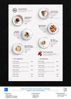 Print Menu Design for Coffee Shop / Cafe / Restaurant / Bistro / Resto by mean-inc Restaurant Design, Cafe Menu Design, Menu Card Design, Stationary Design, Restaurant Food, Café Design, Food Menu Design, Design Room, Bar Catering
