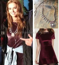 Who: Zoey DeutchWhat: Free People Bronze Adjustable necklace , sold out / (possible match) Reformation Volta Dress, sold outWhere/When: On the set of 'Dirty Grandpa' in Georgia / May 2015ID by notthepathtonarnia