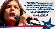 Camila Vallejo, militante política y diputada (#PartidoComunista de #Chile) #Cristina #LAPresidenta #LaJefa #Militancia #Argentina #PatriaGrande #Latinoamérica #AméricaLatina #AméricaLatinayelCaribe #Iberoamérica #Sudamerica #LaPatriaEsElOtro #UnidosyOrganizados #MovimientoNacionalyPopular // #Frases #Citas