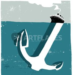 """""""Anchor"""" Graphic/Illustration art prints and posters by Iván Bravo - ARTFLAKES.COM"""