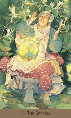 The Seeress from the Victorian Fairy Tarot - High Priestess