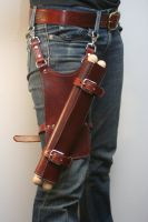 Scroll with Leather Thigh Case by Versalla