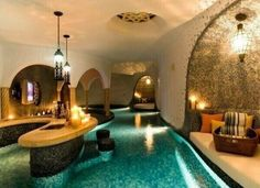 Lazy river that flows through the house...