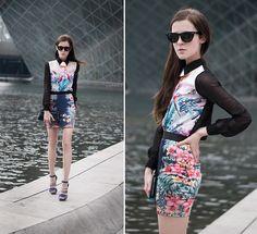 Sheinside Blouse, Pull & Bear Skirt, Bcbg Heels | Ms.Crazyflowers (by Katerina Kraynova) | LOOKBOOK.nu