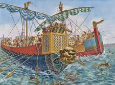 Battle of the Delta was a sea battle between Egypt and the Sea Peoples- by G Rava Ancient Greece, Ancient Egypt, Ancient History, Greco Persian Wars, Sea Peoples, Bronze Age Civilization, Ancient Mesopotamia, Ancient Civilizations, Minoan