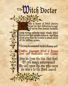 """Book of Shadows:  """"The Witch Doctor,"""" by Charmed-BOS, at deviantART."""