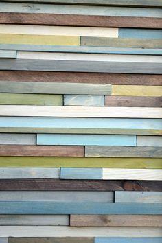 Wood Wall Art   12 x 36  greens blues grays by moderntextures, $275.00