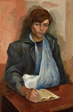 Lino Enea Spilimbergo (Argentina, 1896-1964) - Joven herido, s/f. Óleo sobre lienzo, 114 x 76 cm. (Museo de Artes Plásticas Eduardo Sívori - Buenos Aires, Argentina)