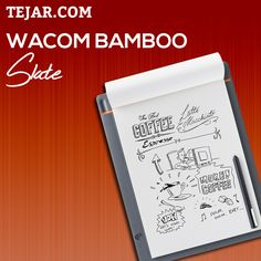 Bamboo Slate is a Smartpad that allows you to write naturally with pen on any paper.  #Tejar #Wacom #Dubai #UAE