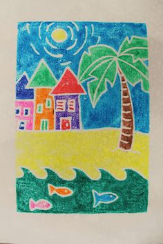 Printmaking with foam plates and Mr. Sketch watercolor markers.