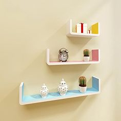 Xiaoandfei Simple U-shaped parcel shelf bookcase shelf wall shelving bedroom living room decorative frame painted clapboard Creative , c >>> Check this awesome product by going to the link at the image. (This is an affiliate link and I receive a commission for the sales)