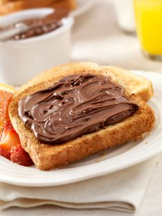 Nutella on toosted bread :) yummm !