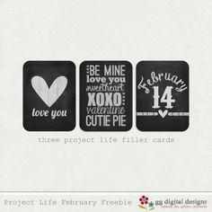 Project Life February Freebie - Creating My Life