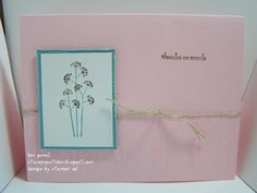 Easy Thank You card with Pocket Silhouettes