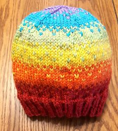 Rainbow Fade Hat pattern by Ashley Collings Knit Crochet, Crochet Hats, Crotchet, Find Your Fade Shawl, Knitted Hats, Knitting Patterns, My Design, Finding Yourself, Beanie