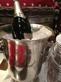 A celebration always call for a toast! This wine bucket is from Pottery Barn