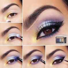 Lancôme   ... Step by step to soft and beautiful eyes using the #JasonWuforLancome palette in Violet Streak by Maryam Maquillage