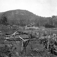 Trenches at the base of Kennesaw Mountain Under the hot summer sun, the temperature climbs to one hundred degrees. The Confederate army is entrenched atop Kennesaw Mountain. Sherman orders an attack