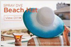 DIY Spray Dye Beach Hat