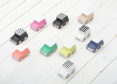 A great new twist on an old-time favourite. Friction motor wooden car―just pull back and vrooooooooom! Off you go! These cars come in a variety of gorgeous colours and will bring so much fun you'll want to fill your garage.