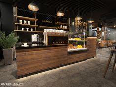 Kinh doanh cafe hiện là một trong những loại hình được nhiều bạn trẻ lựa chọn. Tuy nhiên, để có được một quán cafe đẹp, mang phong cách riêng lại không phải là điều dễ dàng. Nếu quán cafe của bạn mở ra mà không tạo được dấu ấn riêng thì khó lòng phát triển lâu dài trên thị trường đầy cạnh tranh hiện nay. Đó chính là lý do tại sao đối tác cần đến đẳng cấp trong thiết kế thi công nội thất quán cafe của MOREDESIGN ARCHITECTS. Thiết kế quán cafe hiện đại Không gian của quán cafe không thực sự… Coffee Bar Design, Coffee Shop Interior Design, Coffee Shop Bar, Coffee Bar Home, Cafe Shop Design, Cafe Counter, Café Bar, Counter Design, Shop Interiors