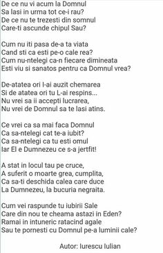 Christian Poems, Romania, Religion, Recipe, Words, Quotes, Bible, Quotations, Recipes