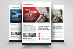 Corporate Business Flyer Template by Design Up on @creativemarket