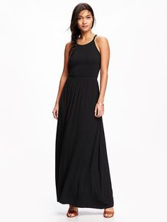 Sleeveless Jersey Maxi Dress for Women Product Image
