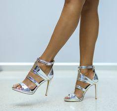 Sandale Blenda Argintii Stiletto Heels, Shoes, Fashion, Sandals, Moda, Zapatos, Shoes Outlet, Fashion Styles, Shoe