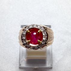 Burma ruby gold diamond
