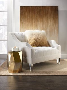 Falling for fall with the Simone Chair and new ombré Mongolian Pillow Collection.
