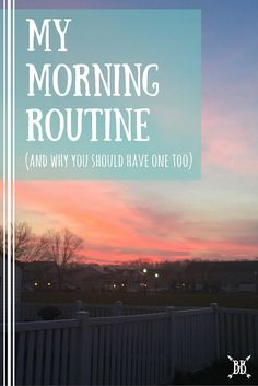 Here's a glimpse into my morning routine! You know you've been dying to know :)