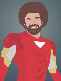 Bob Ross as Iron Man