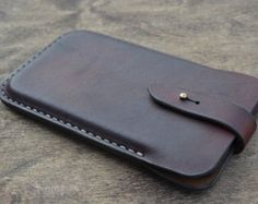 Case for iPhone 7/6 Handmade Leather iPhone 7/6 Pouch by sergklim