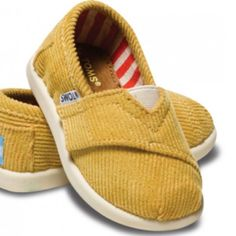 Yellow Baby TOMS- Size 7 or 8 for Julian