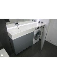 umywalka z pralką w zabudowie