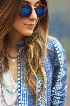 90 melhores imagens de óculos   Girl glasses, Round sunglasses e ... ceb5a5047c