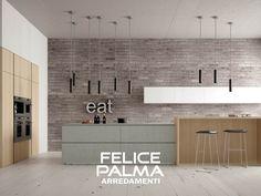 cucina #cemento #ante #legno #moderno#contemporaneo #lineare ...