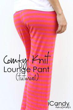 pantalon detente jersey patron de couture gratuit : des pantalons de détente en jersey