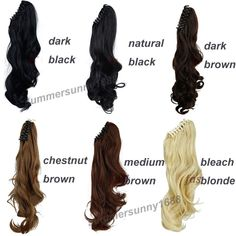 18 inches Long Ponytail Clip inl Hair Extensions Claw on Synthetic Hair piece Wavy Heat Resistant. Click visit to buy #SyntheticExtensions