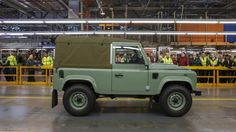 THE LAST LAND ROVER - the final Defender ever to be made rolls off production line at Solihull. THE END.