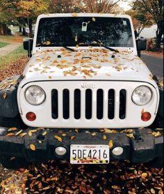 super cute fall vsco white jeep