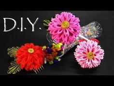 D.I.Y. Kanzashi la flor del crisantemo - Tutorial - YouTube