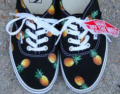 pineapple vans black